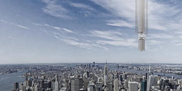 Архитекторы предложили привязать кастероиду жилой небоскреб