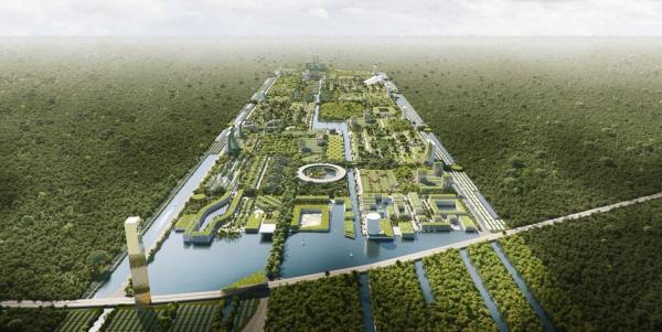 Итальянцы построят в Мексике умный город с растениями на небоскребах