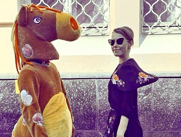 Собчак сравнила Шнурова в политике с лошадью